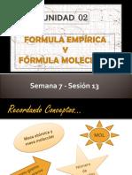PPT_Sem 07_Ses 13_Fórmula Empírica y Molecular