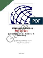 Caderno de Exercícios Resolvidos Topografia