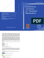 European Journal of Tourism Research Volume 3 (Issue 1) - cover