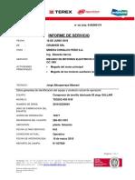 Informe de Megado de Los Motores Electricos Del Compresor 265 GC 1001