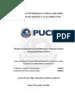 Cabrera Paredes Modelo de La Evaluación de Sostenibilidad Para El Sistema Nacional de Inversion Publica