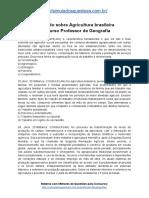 Simulado Sobre Agricultura Brasileira Concurso Professor de Geografia