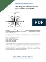 Simulado Sobre Projeções e Representações Concurso Professor de Geografia