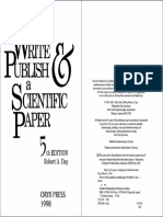 DAY, Robert. How to Write and Publish a Scientific Paper, 5th Ed.