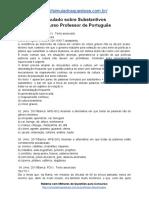 Simulado Sobre Substantivos Concurso Professor de Português