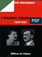 Malliarakis, Jean-Gilles - L'Alliance Staline-Hitler