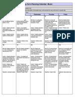 Richard Rubin Long Term Planning Calendar
