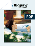 2001 Hot Spring Owners Manual