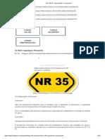 NR35 - Capacitação e Treinamento