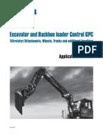 Excavator and Backhoe Loader Control GPC-Application Contents I-En