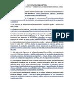 INDEPENDENCIA POLÍTICA Y DEPENDENCIA ECONÓMICA DE AMÉRICA LATINA