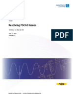 Resolving Issues PSCAD