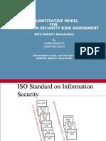A Quantitative Model for Information Security Risk Assessment-presentation