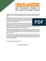 Comunicado VPI ante muerte del concejal Fernando Albán