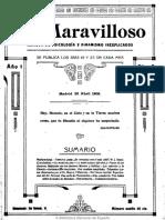 Lo Maravilloso (Madrid). 25-4-1909, n.º 2.
