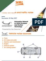 INQUEST Seminar (Bucharest) - Road Surface & Traffic Noise