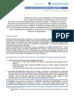 Alerta Epidemiologico Nuevos Casos de Sarampión 4-10-2018