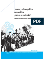 Escuela y Cultura Política Democratica