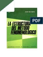 La estructura del metodo fenomenologico