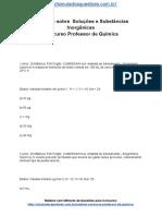 Simulado Sobre Soluções e Substâncias Inorgânicas Concurso Professor de Química