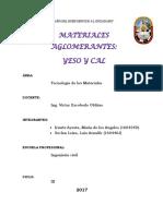 Materiales Aglomerantes Cal y Yeso