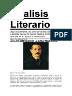 Analisis Literario de La Obra Marianela
