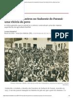 Revolta Dos Posseiros No Sudoeste Do Paraná_ Uma Vitória Do Povo _ Brasil de Fato