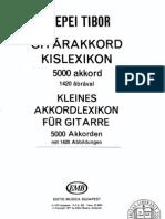 Gitárakkord kislexikon (5000 akkordvariáció) - Csepei Tibor