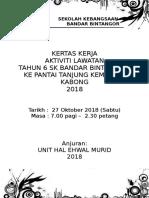 Kertas Kerja Lawatan Ke Pantai Anjung Kembang Kabong 2018