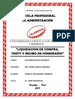 Liquidacion de Compra, Tikett y Recibo de Honorario - Foro Nº 5
