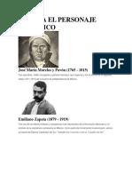 Biografia de Personajes Historicos de Mexico