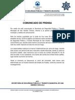 Comunicado sobre hombre asesinado en las inmediaciones de Ibero