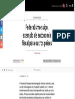 Federalismo Suíço, Exemplo de Autonomia Fiscal Para Outros Países - SWI Swissinfo.ch