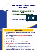 Code and Standardisation for Engineering Acceptance 08122017AM