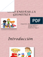 Cómo Enseñar La Geometría