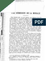 Démission de la morale - Tonneau - Revue Thomiste 1933