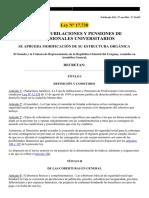 Uruguay Ley 17.738 Caja de Profesionales Universitarios