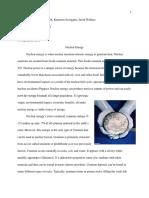 nuclear energy group essay