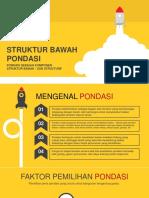 1. Struktur Bawah (Pondasi)