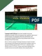 PALING LARIS, Lantai Futsal Interlock, WA 0821-8620-5040