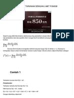 Konsep Turunan Dengan Limit Fungsi - Matematika