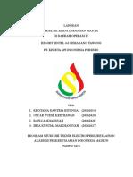 Laporan PKL Madya Akademi Perkeretaapian Indonesia Madiun