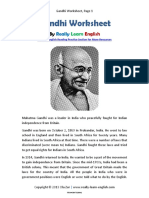 Worksheet Mahatma Gandhi