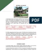 Haciendas Las Guacas y Calibio