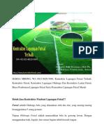 HARGA MIRING, Kontraktor Lapangan Futsal Terbaik, WA 0821-8620-5040