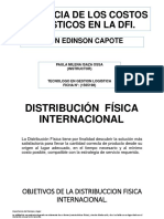 Incidencia de Los Costos Logísticos en La Dfi.