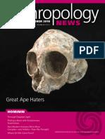 Anthropology News Sep Oct 18