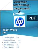 Customer Relationship Management @ HP