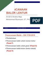 Set 05 - Perencanaan Balok Lentur - SNI 1729-2015