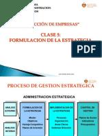 Clase 5 Formulacion de La Estrategia (1)